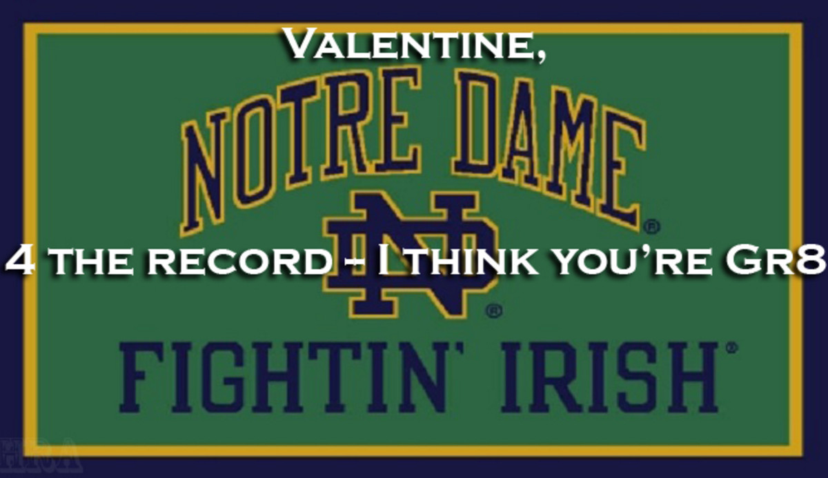 Our academic standards are so high/ (how high are they)/ they're so high Manti Te'o got in/ That's the joke/ Happy Valentine's Day