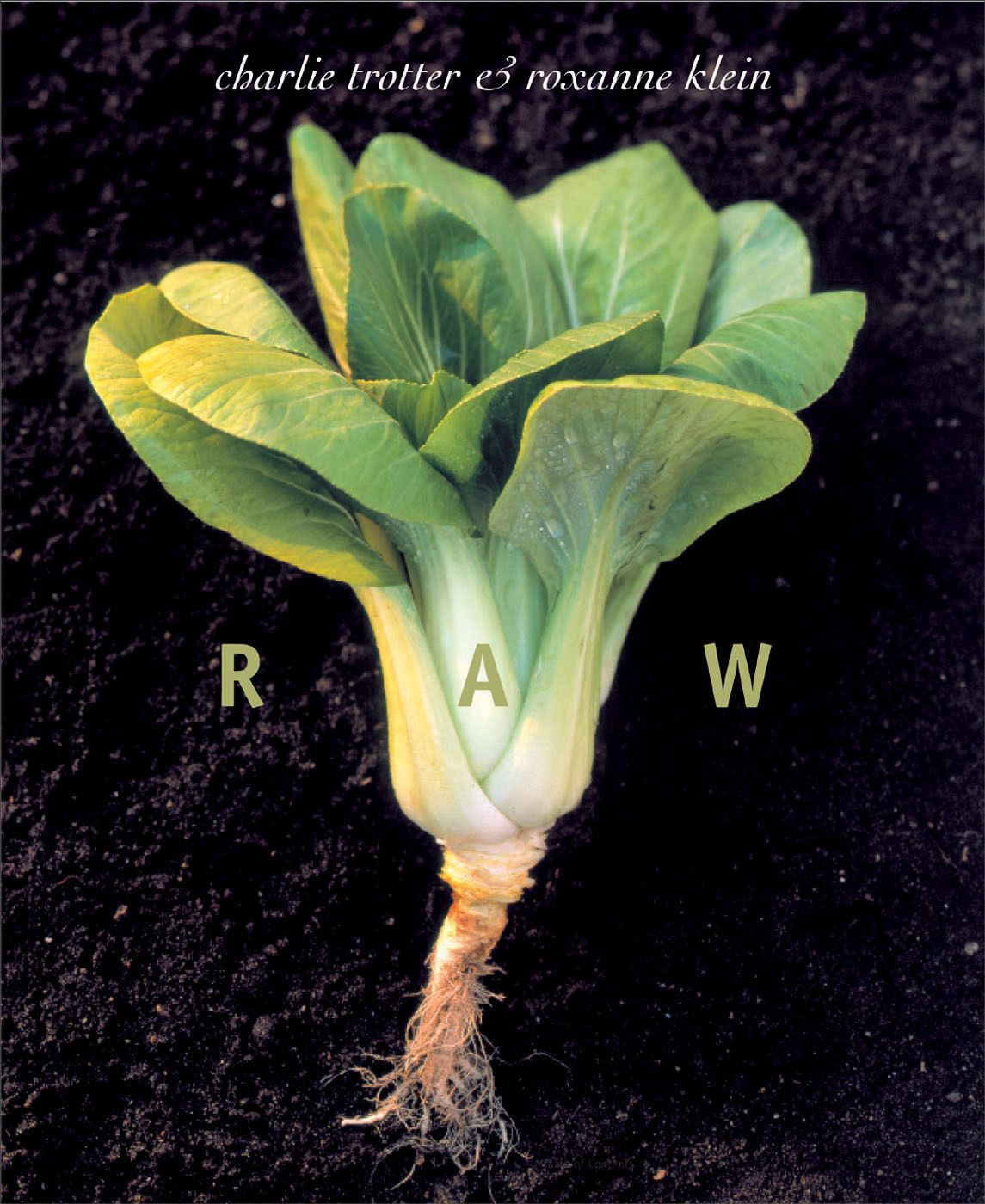 """""""Raw"""" by Charlie Trotter and Roxanne Klein is a """"cookbook'' with a difference, since its purpose is to explain the techniques and offer plenty of recipes for preparing food without cooking it conventionally."""