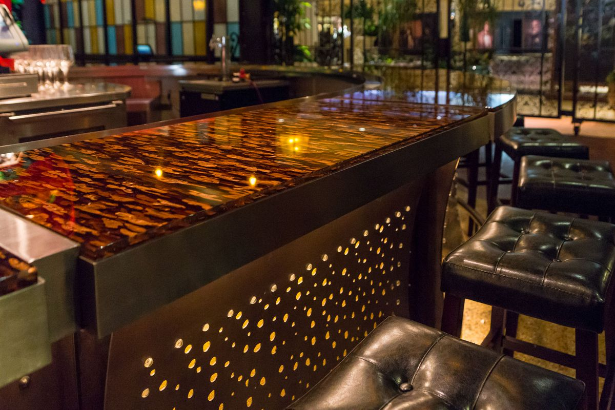 The bar at Once