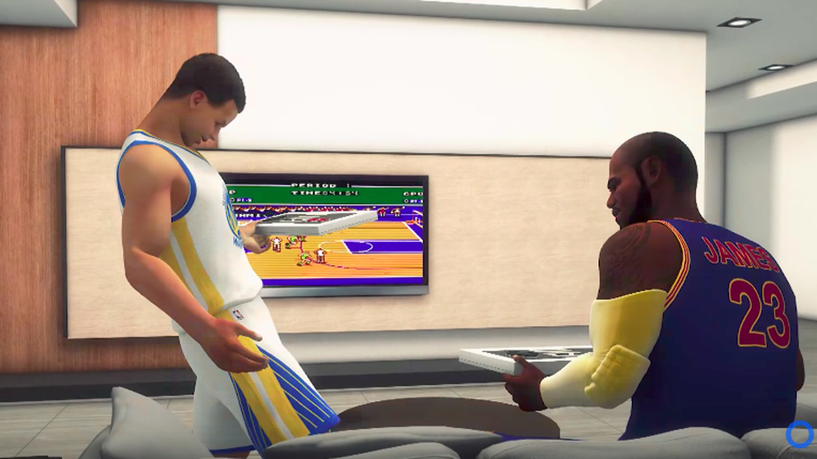 Watch an animated LeBron James beat Steph Curry in game of ...