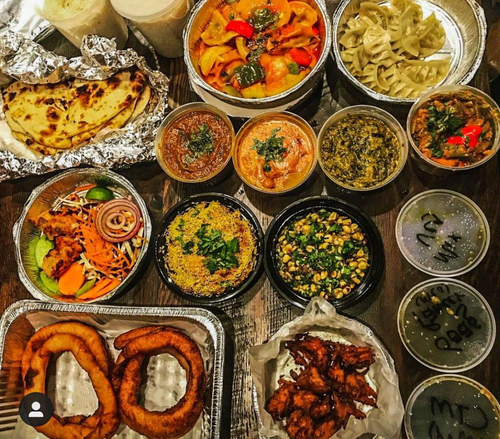 An array of Nepalese takeout containers