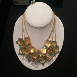 Geometric necklace, $150