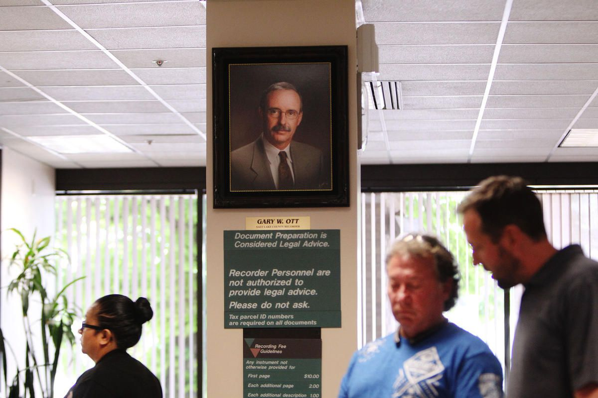 A portrait of current Salt Lake County Recorder Gary Ott is pictured in the Salt Lake County Recorder's Office in Salt Lake City on Monday, June 5, 2017.