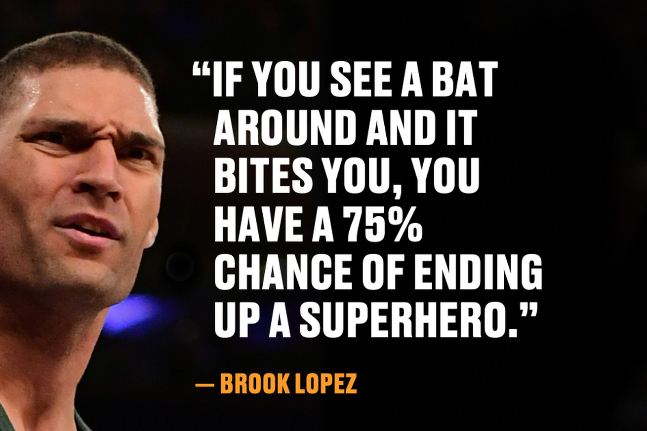 brook1.0 - Brook Lopez wants a bat to bite him so he can become a superhero