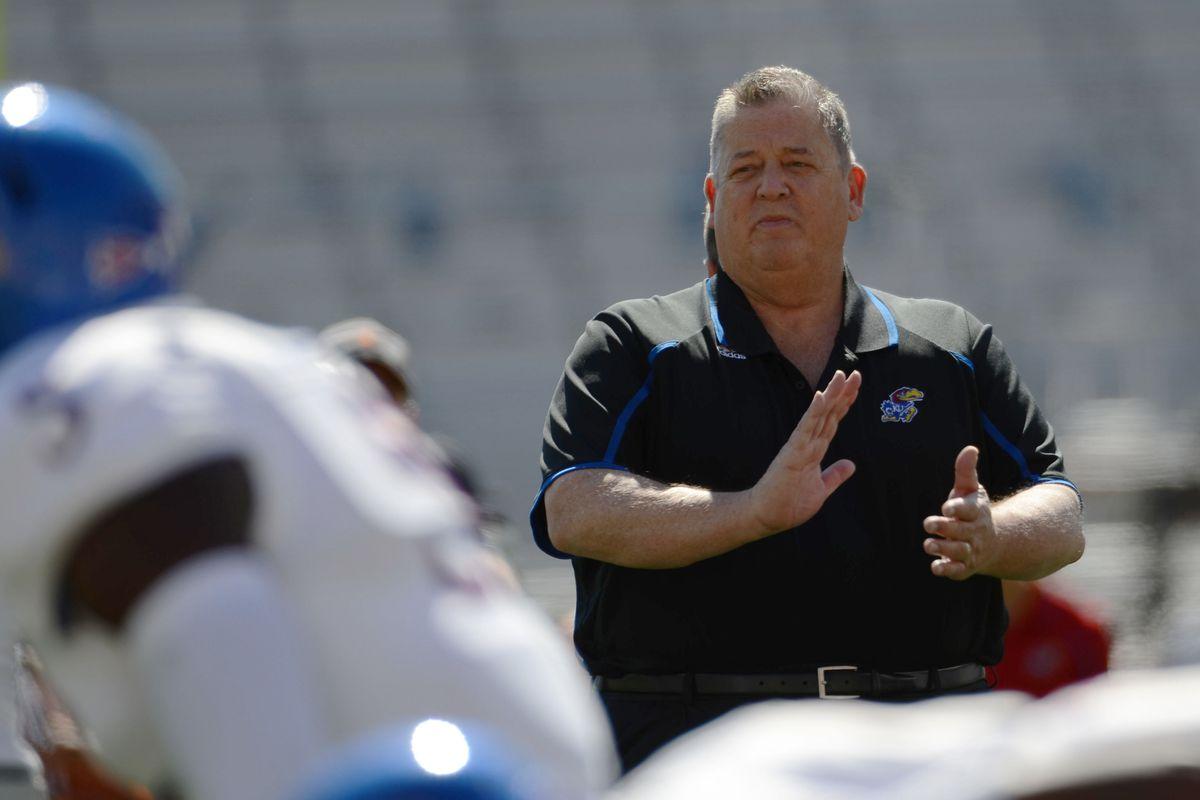 Kansas football coach Charlie Weis looks on as his team took on the Texas Longhorns in Austin Nov. 5.