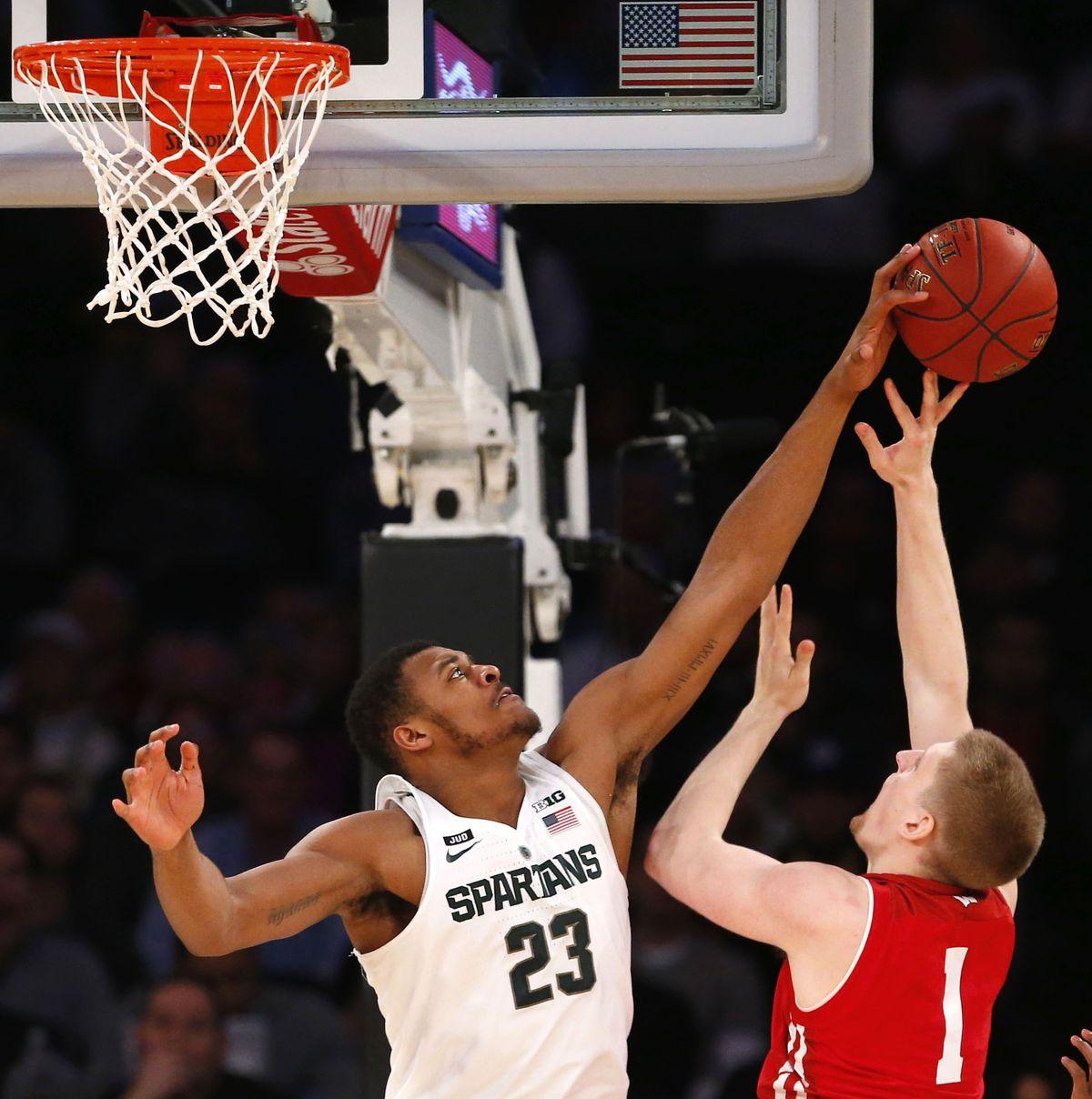 NCAA Basketball: Big Ten Conference Tournament-Michigan State vs Wisconsin