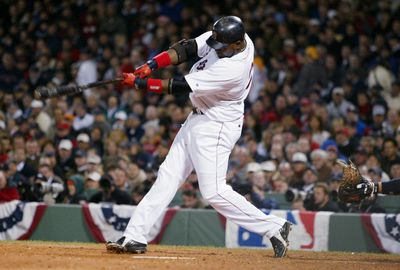Boston Red Sox's David Ortiz hits a solo homer in the eighth