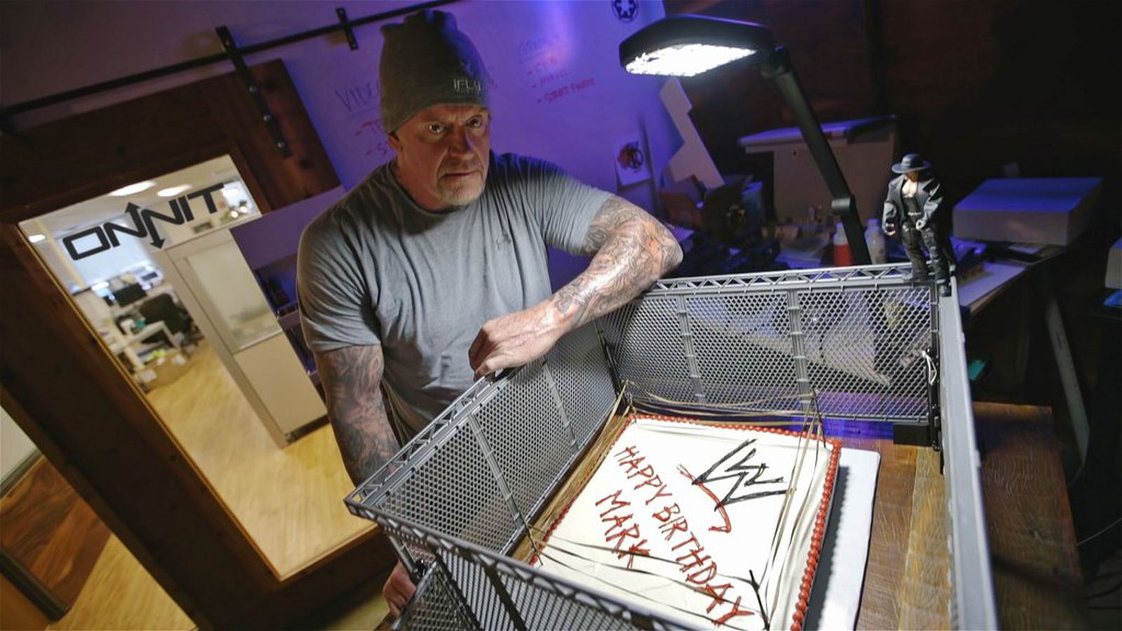 Not Even A Birthday Cake Can Make The Undertaker Smile