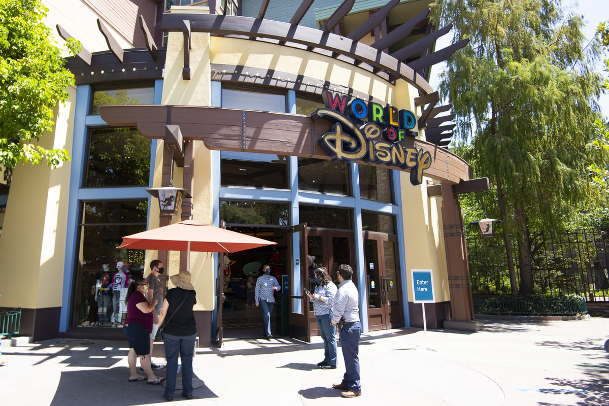 Downtown Disney, the shopping district by Anaheim's Disneyland, reopened on July 9.