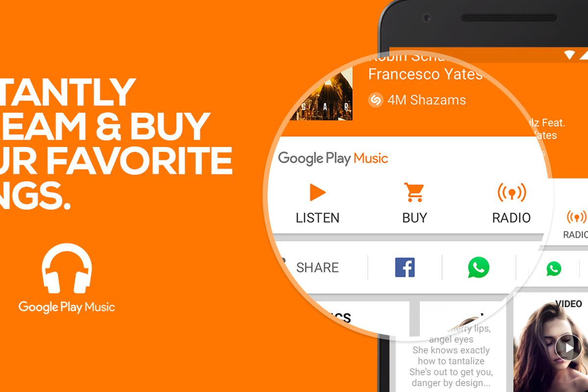 Shazam on Android adds better Google Play Music integration