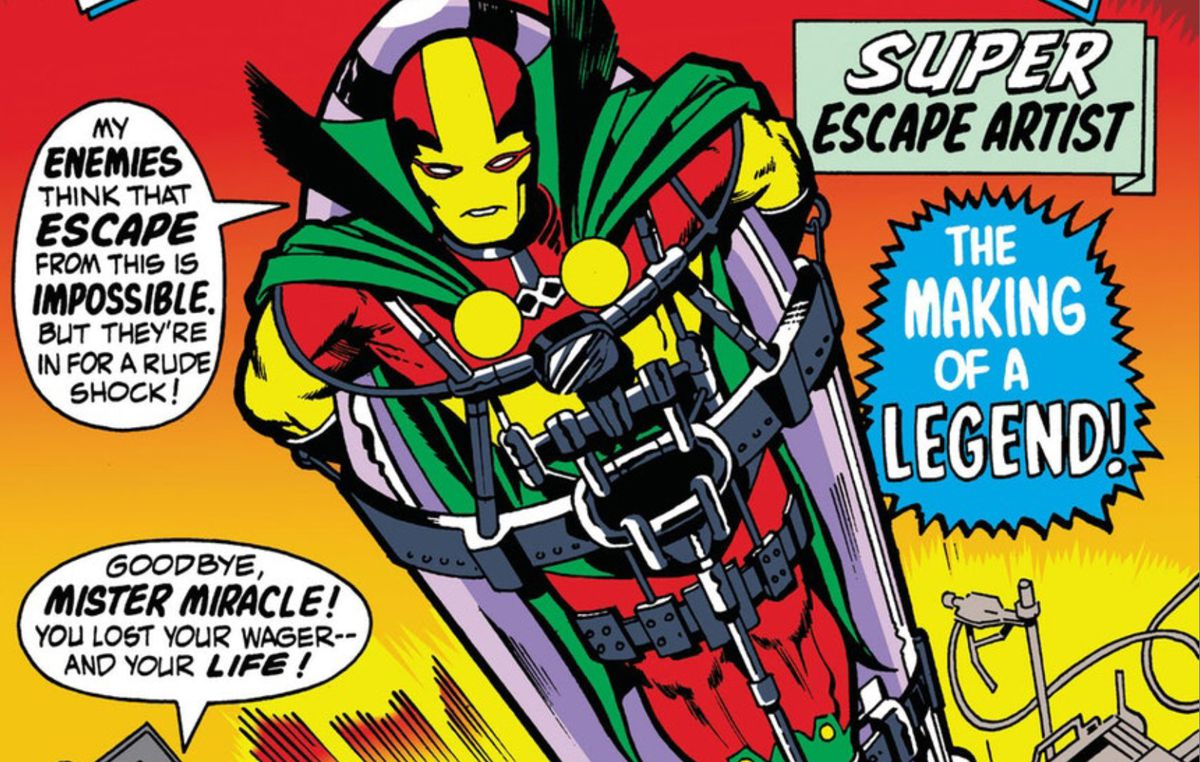 From the cover of Mister Miracle #1, DC Comics (1971).