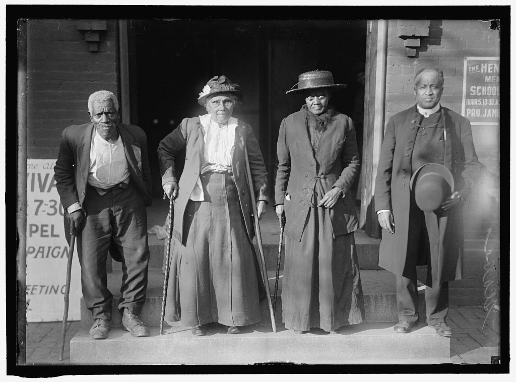 Four attendees of the former slave convention.