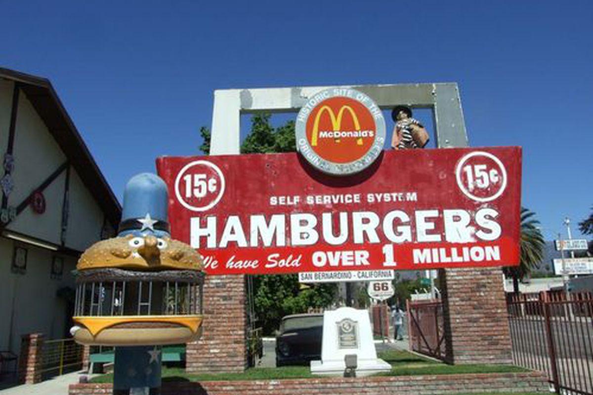 The world's first McDonald's, San Bernadino, CA.