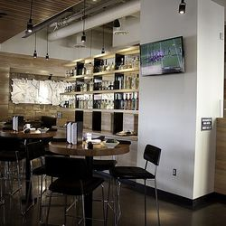 Another view of the bar at Cantina Laredo.