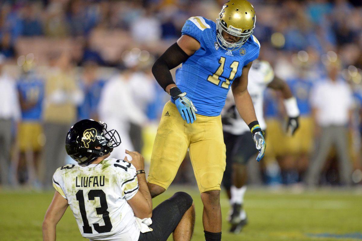 2014 NFL Draft Profile UCLA linebacker Anthony Barr Bleeding