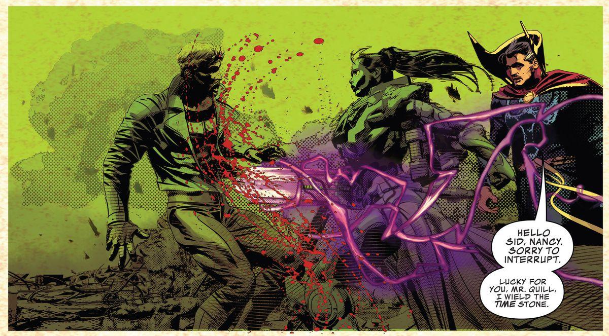 gamora kills starlord in infinity wars #2