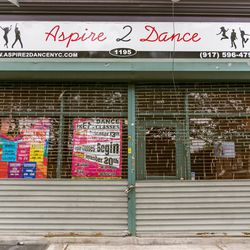 """<b>↑</b>Start your Bed-Stuy day on a high-energy note with a dance class at <b><a href="""" http://aspire2dancenyc.com/"""">Aspire2Dance</a></b> (1195 Bedford Avenue). The studio offers ballet, hip hop, tap, African dance, yoga, and zumba—just the thing to work"""