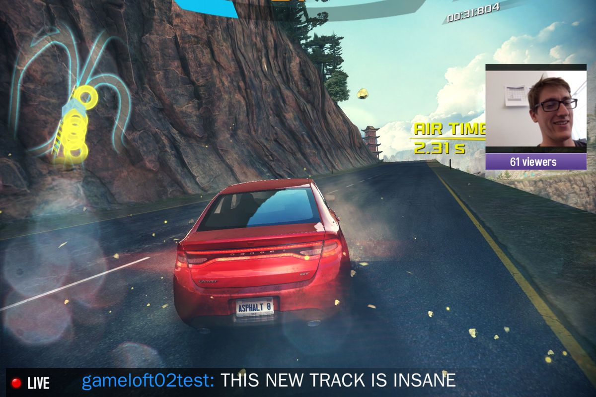 Asphalt 8' for iOS is the first mobile game you can stream