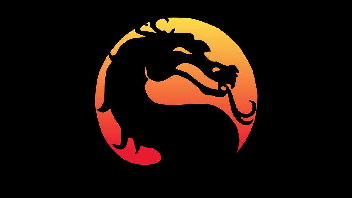 The original Mortal Kombat logo.