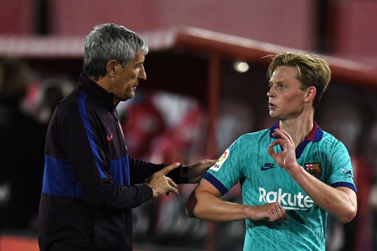 Setien explains De Jong substitution after Mallorca win