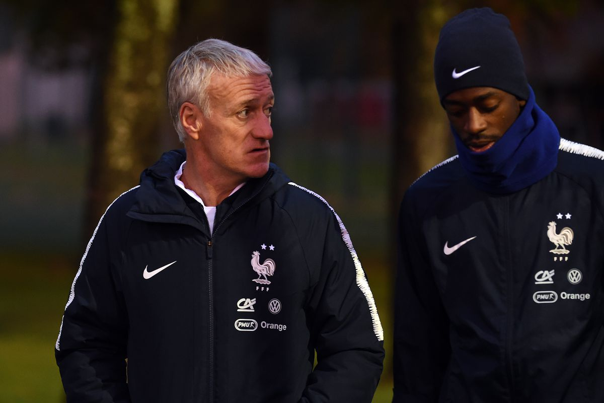 France Soccer Team's Training Session In Clairefontaine