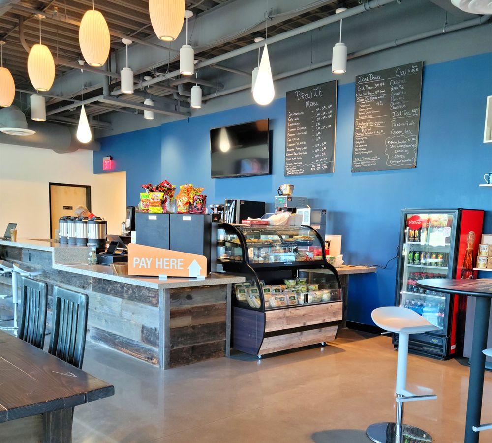 The interior of the new, downtown Brew it Coffee House on Bridger Avenue.