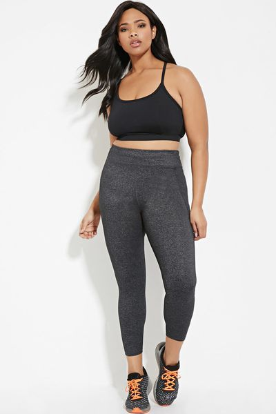 Forever 21 launches a plus size activewear line racked leggings 2290 sciox Images