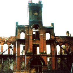 The Pullman clock tower building after a 1998 fire. AP Photo