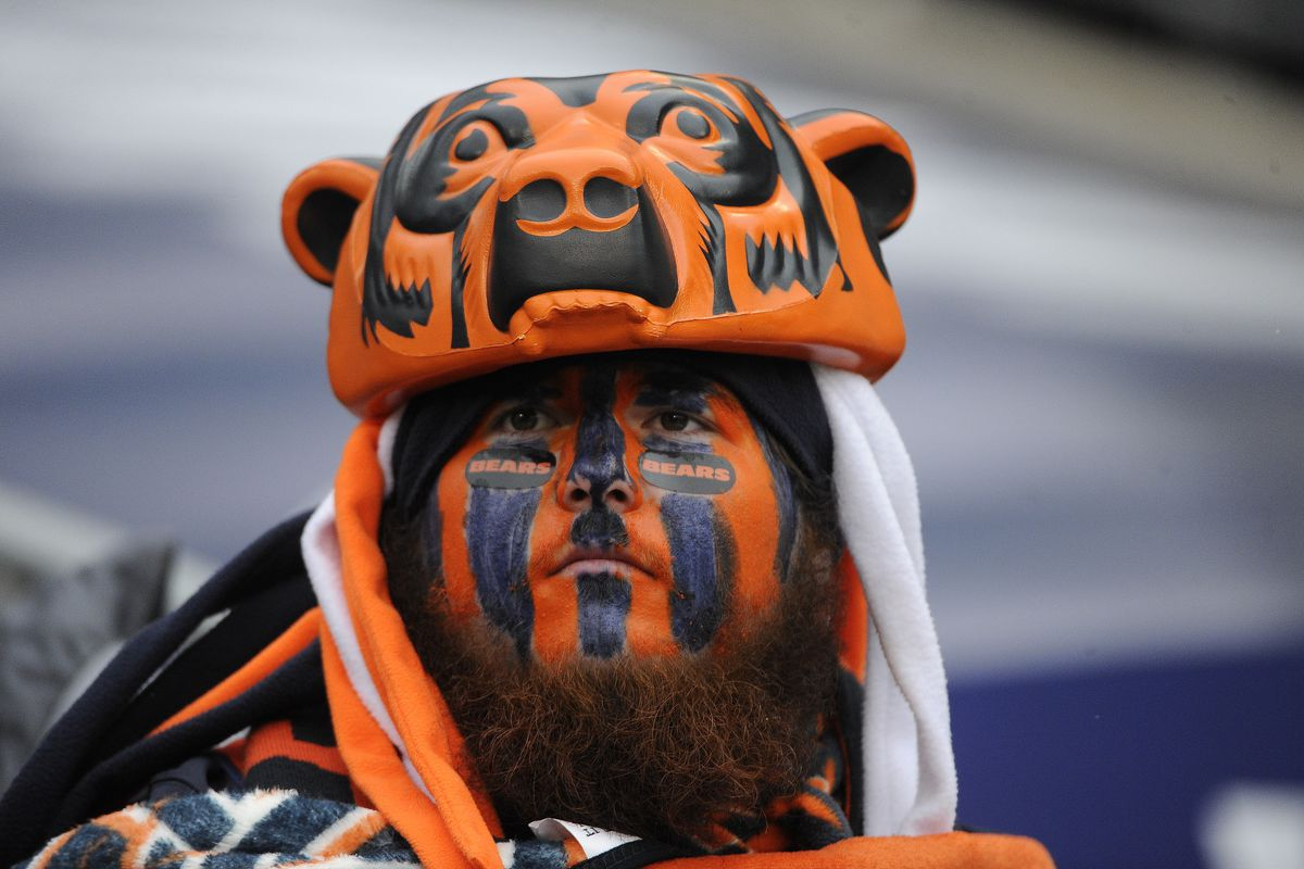 Chicago Bears fan with face paint