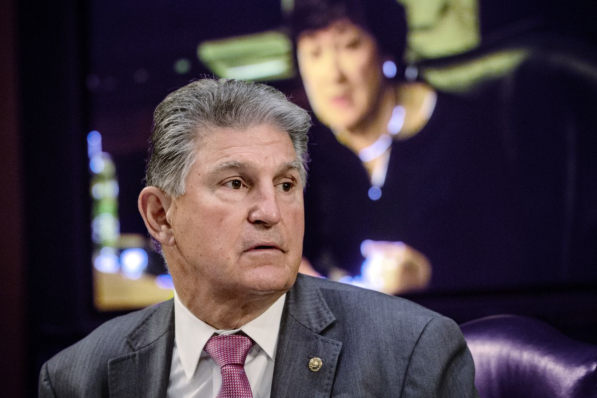 Sen. Joe Manchin, D-W.Va., during a hearing on Capitol Hill in Washington.