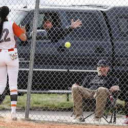 Riverton and Murray compete during a high school girls softball game at Riverview Junior High in Murray on Wednesday, April 7, 2021.
