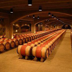 By comparison, the barrel room at Mondavi.