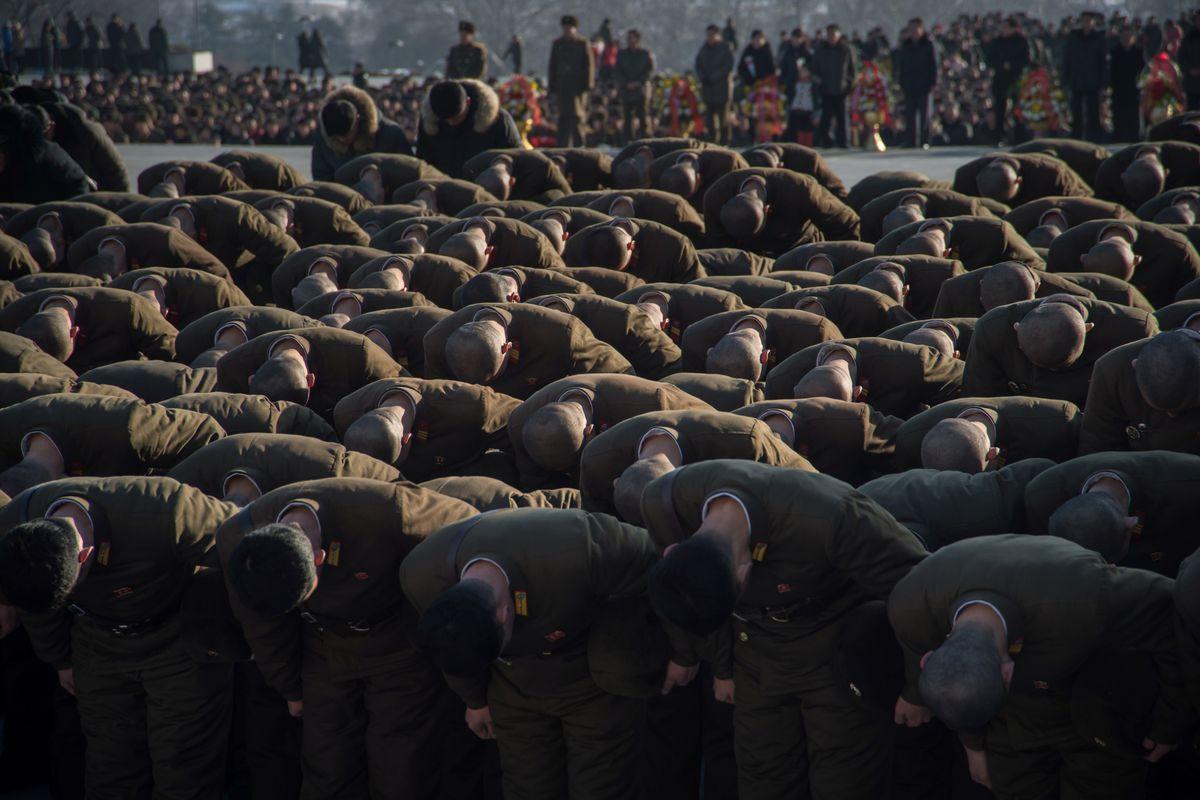 TOPSHOT-NKOREA-POLITICS-KIM-ANNIVERSARY