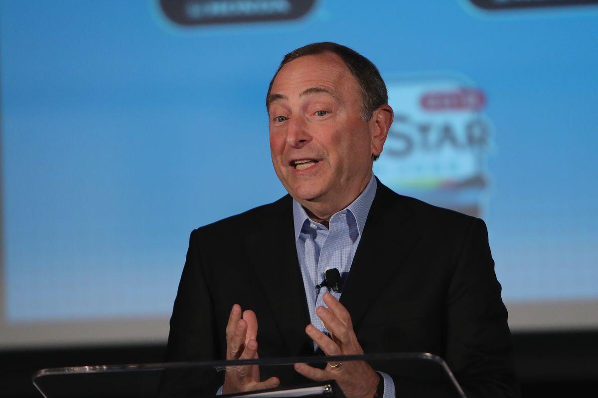 2019 NHL All-Star - NHL Commissioner Gary Bettman Press Conference And Innovation Spotlight