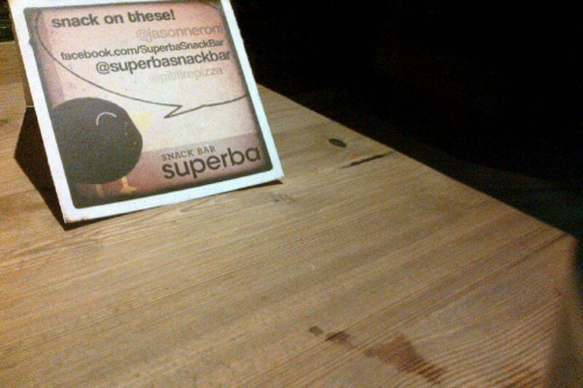 Superba Snack Bar pops up at Pitfire Pizza Fairfax.