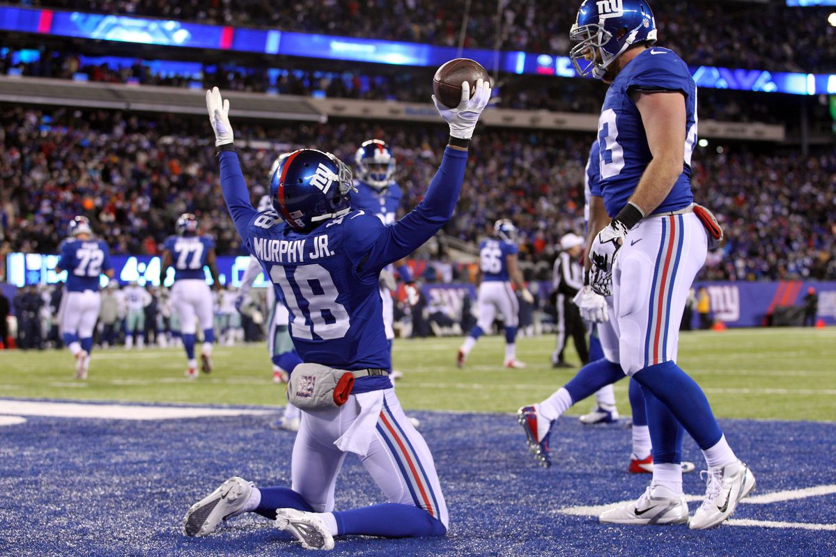 Louis Murphy caught his first TD pass as a Giant Sunday
