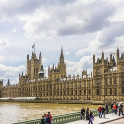 Elder Jeffrey R. Holland, a member of the Quorum of the Twelve Apostles, spoke Wednesday at the Palace of Westminster, pictured here.