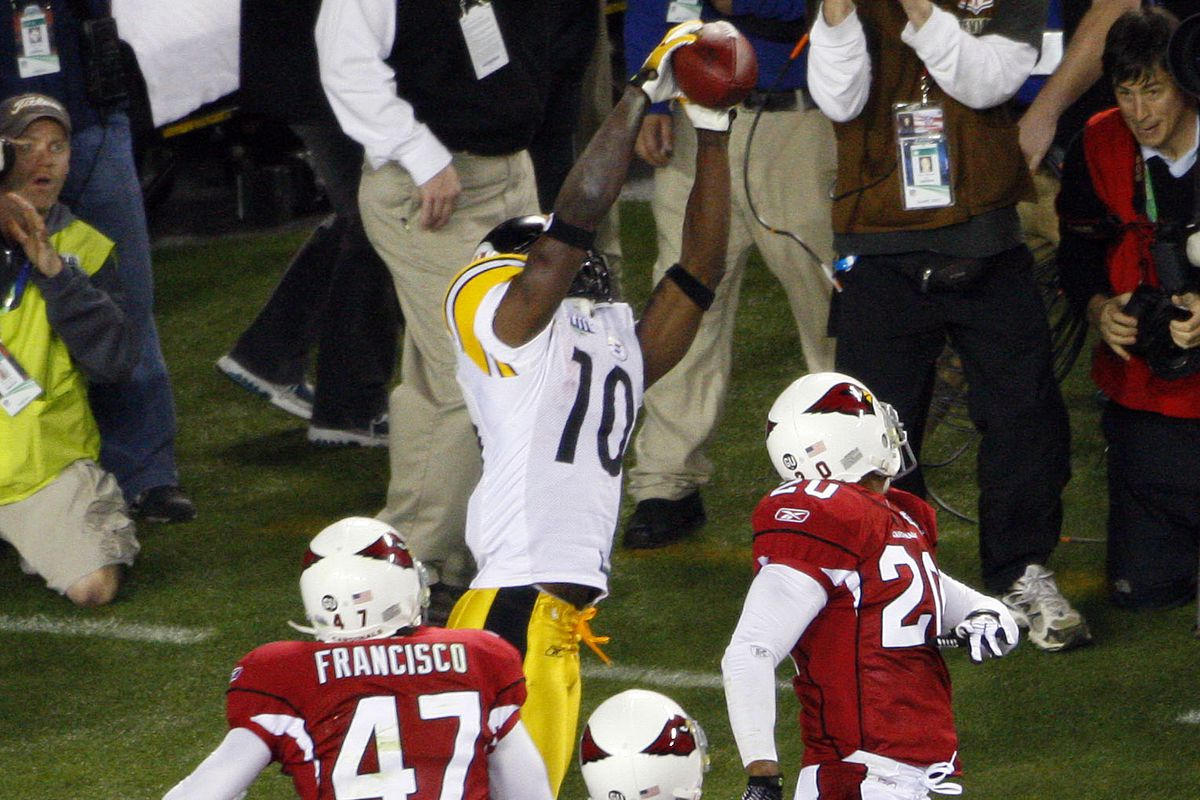 0d27af23ac3 Pittsburgh Steelers All-Time Greatest Plays Bracket: Round 1 - Santonio  Holmes' Super Bowl TD catch vs. Willie Parker's 75-yard run