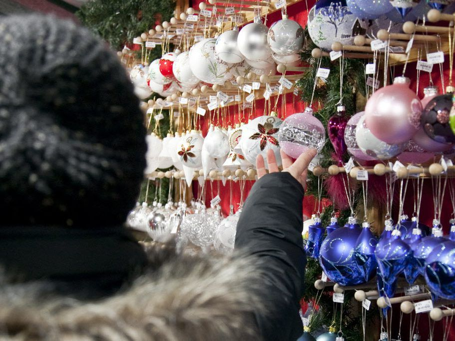 Handcrafted ornaments, gifts and specialty Christmas items will be available for purchase at the annual Christkindlmarket at Daley Plaza, 50 W. Washington.   Ashlee Rezin/for Sun-Times Media/FILE PHOTO