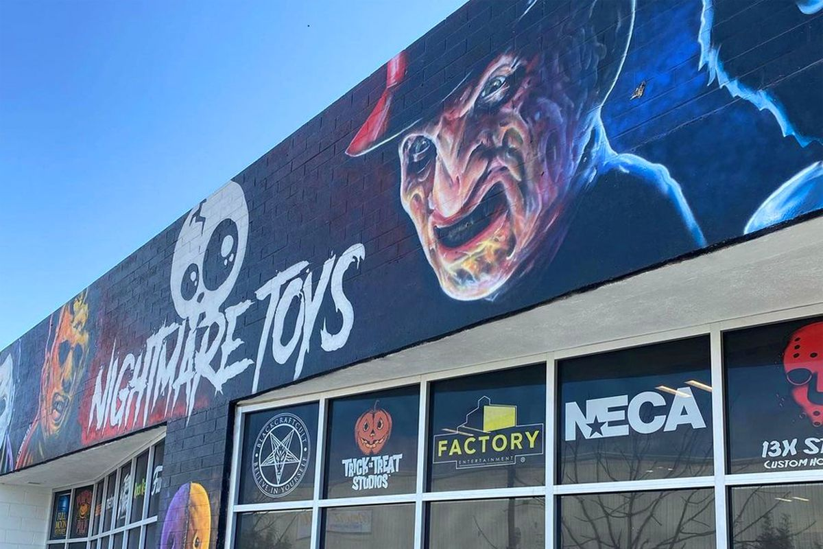 Downtown's Nightmare Toys who are expanding into the space next door to create the horror themed Nightmare Cafe.