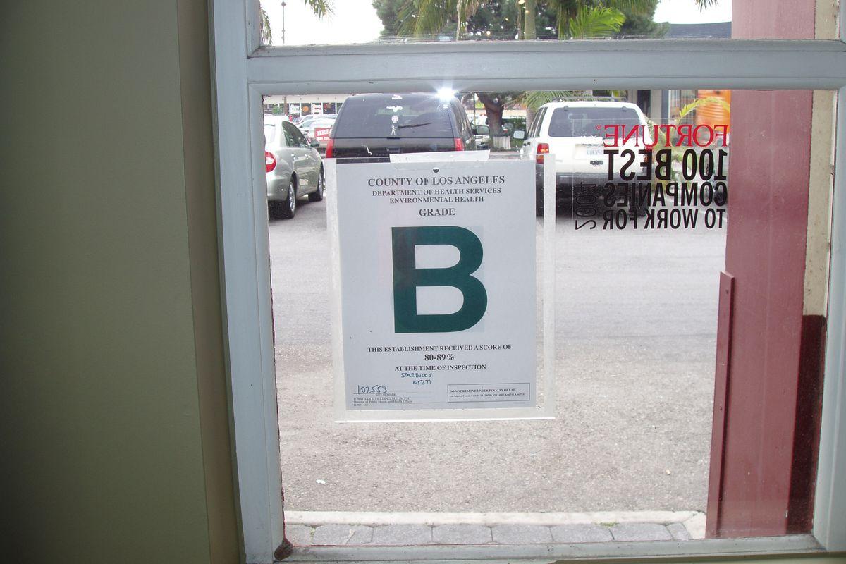 B Letter Grade, Los Angeles