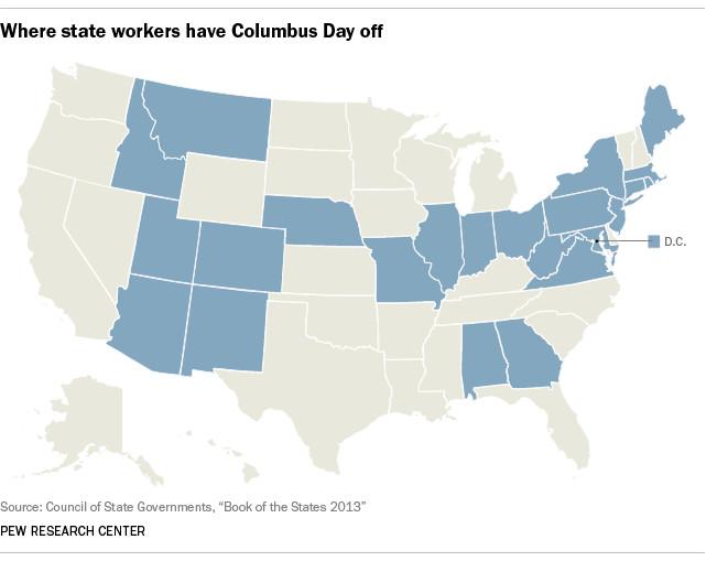 pew columbus day map