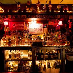 """<b>The Saint:</b>  Home to """"a quartet of daiquiri dispensers, recently stocked with Irish coffee, margarita, jungle juice and a watermelon/cucumber/basil combination."""" 961 St. Mary St. <span class=""""credit""""> [Brasted]</span>"""