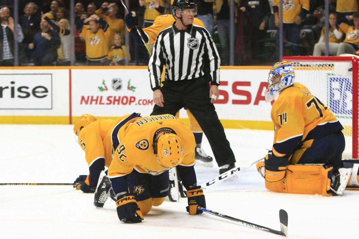 NHL: NOV 27 Golden Knights at Predators