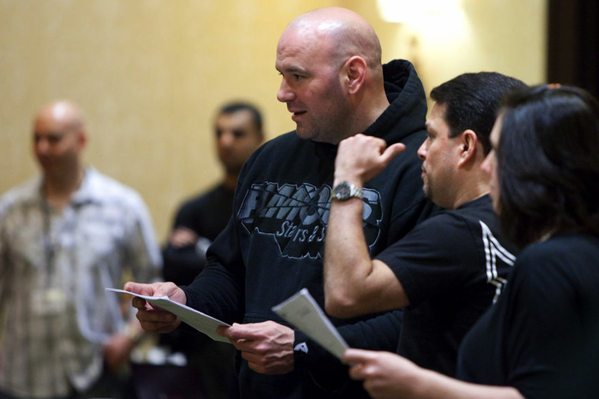 Joe Silva and Dana White, the architects of the UFC's success. Photo by Esther Lin.