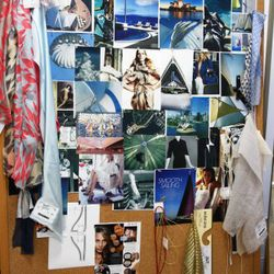 The Mood Board for the Sydney Opera House inspired Spring 2011 collection