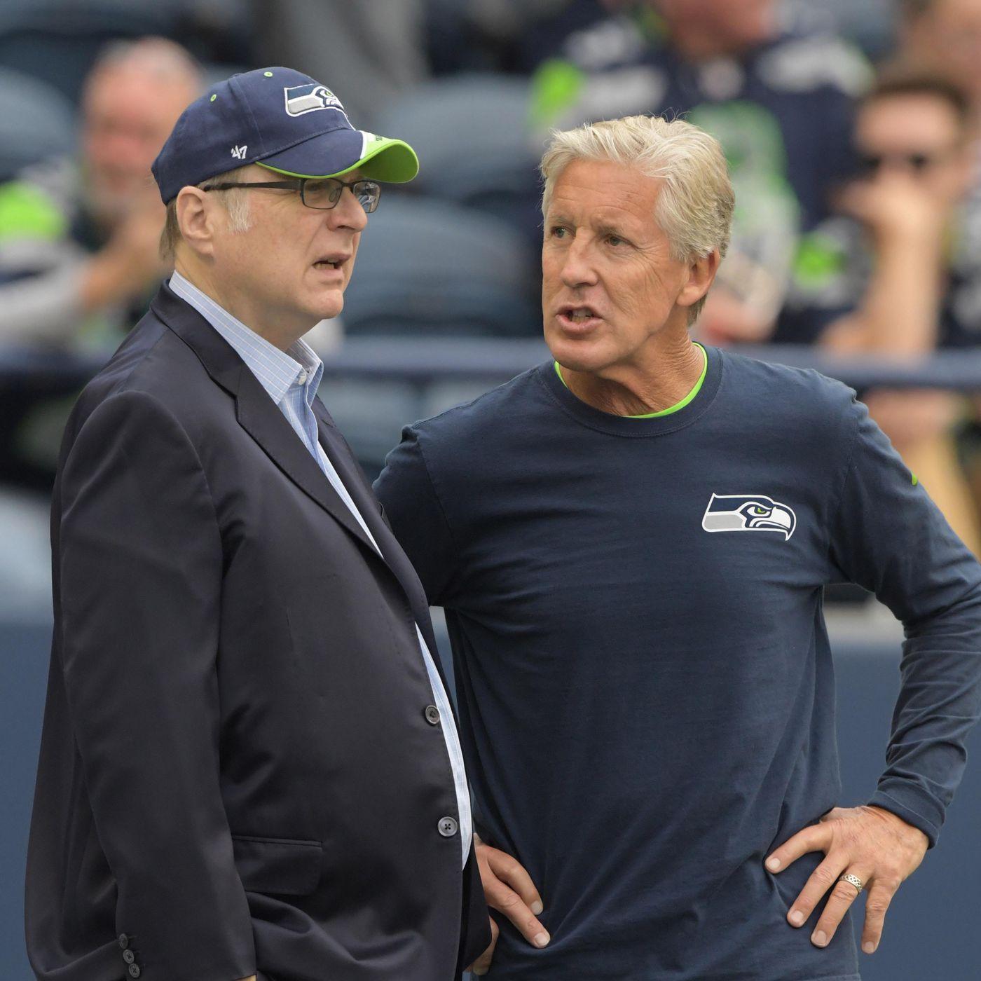 Paul Allen Pete Carroll Seahawks Team President Respond To Trump Field Gulls