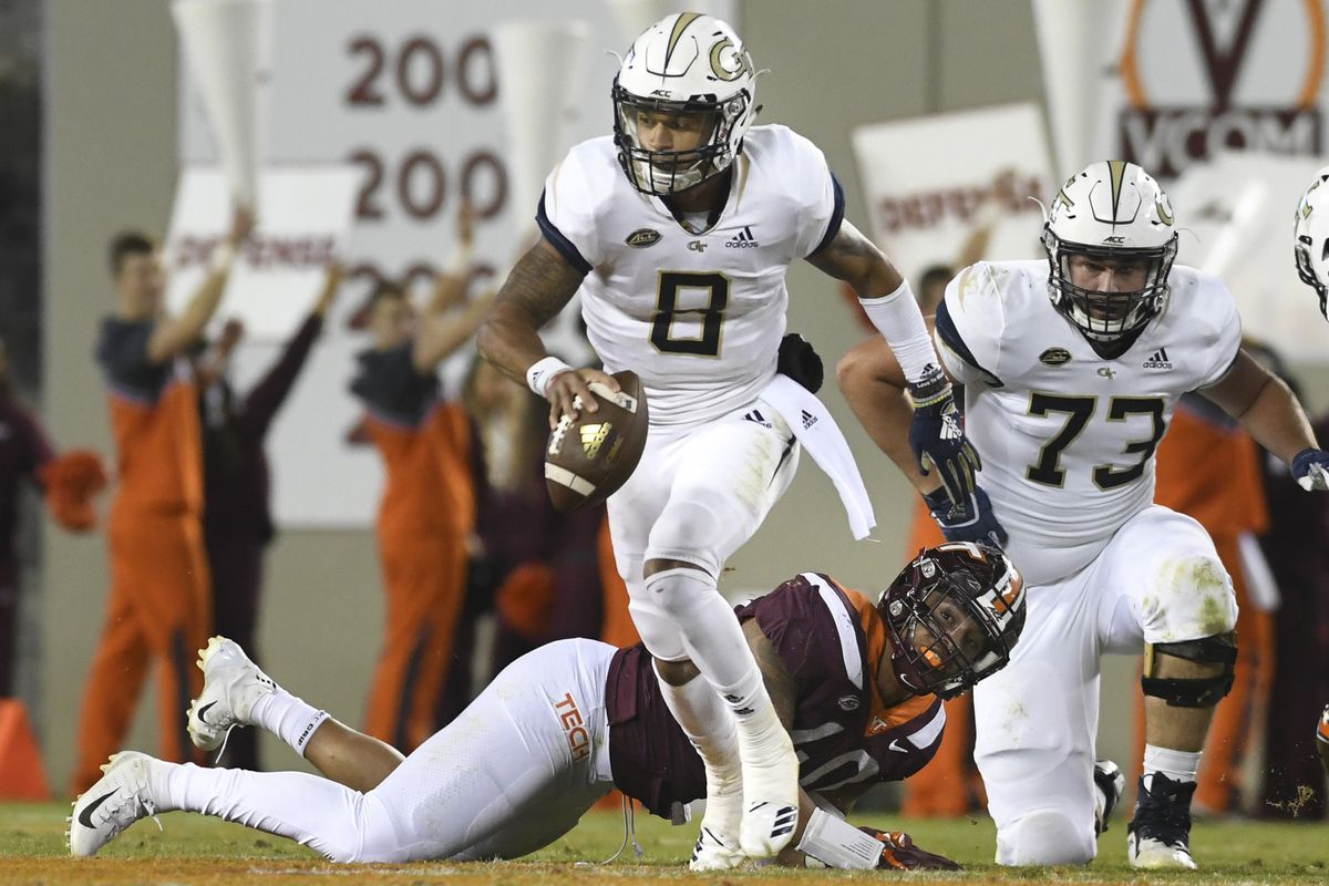 Georgia Tech Destroyed Virginia Tech Without Completing A Pass Sbnation Com