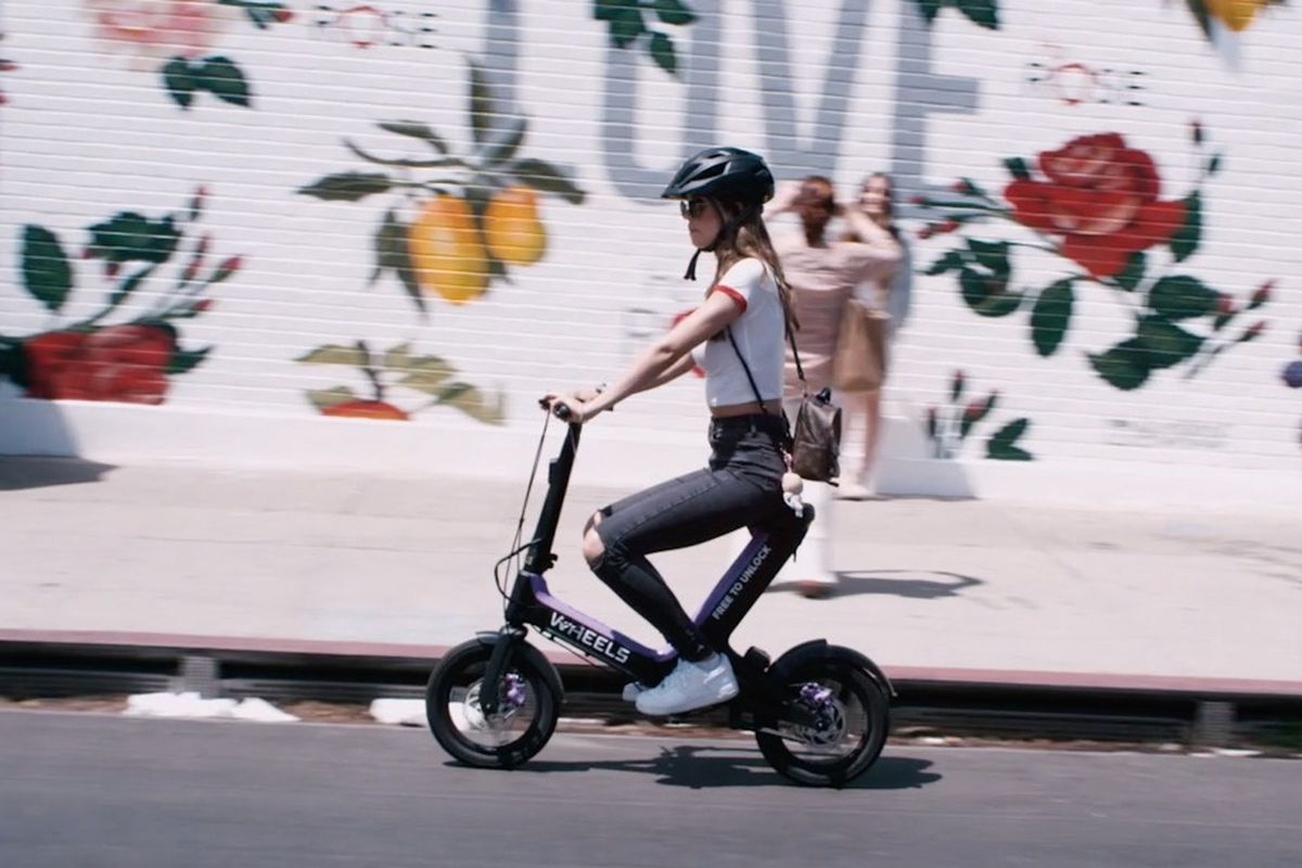 A photo of A Wheels patron in motion.