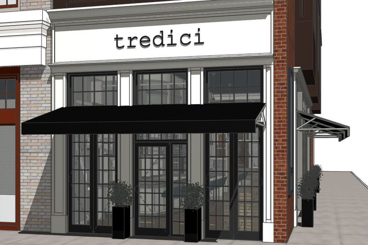 A rendering of Tredici's exterior.